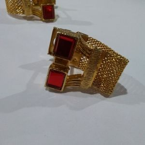 Red & Gold Vintage Cuff Links